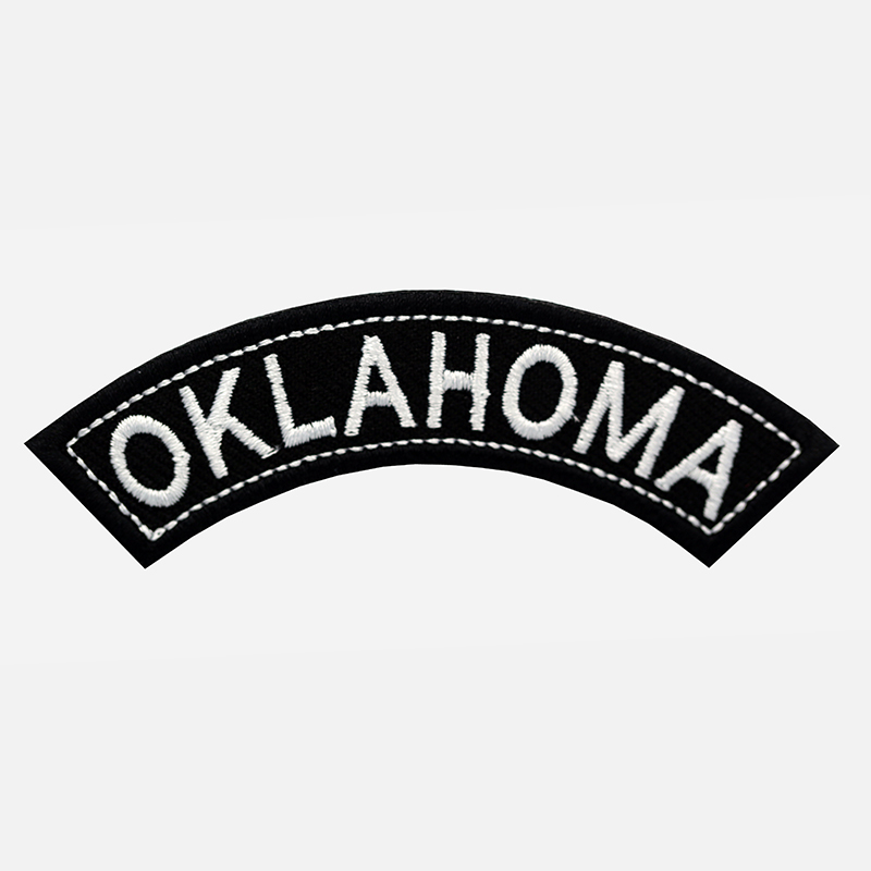 Oklahoma Mini Top Rocker Embroidered Vest Patch