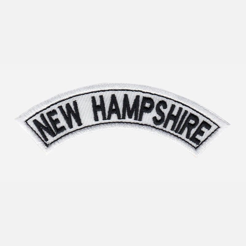 New Hampshire Mini Top Rocker Embroidered Vest Patch