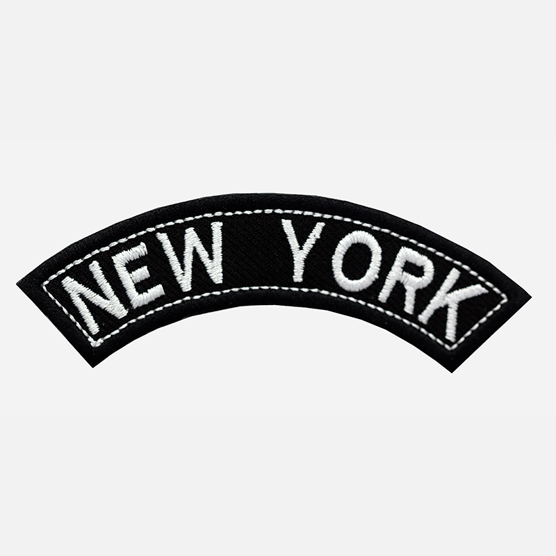 New York Mini Top Rocker Embroidered Vest Patch