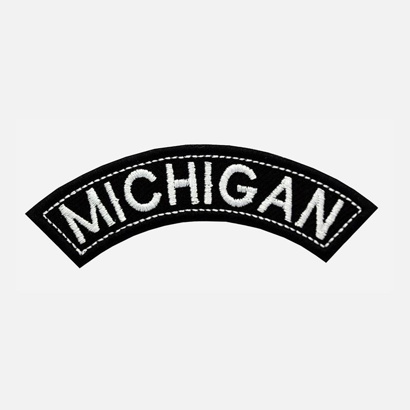 Michigan Mini Top Rocker Embroidered Vest Patch