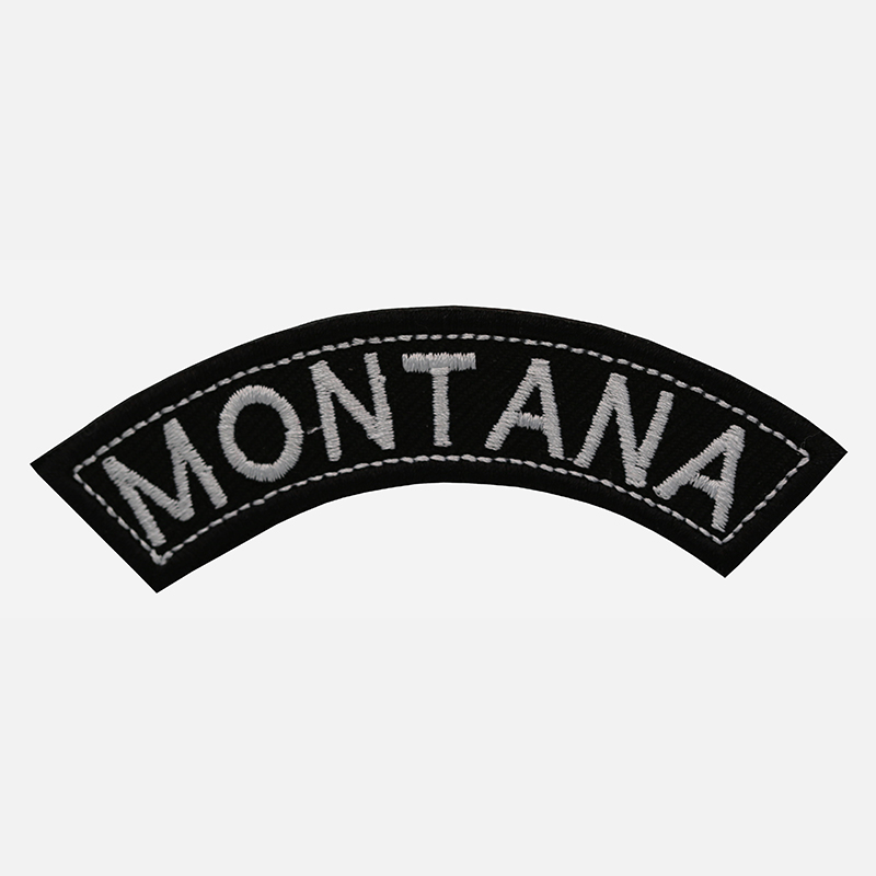 Montana Mini Top Rocker Embroidered Vest Patch