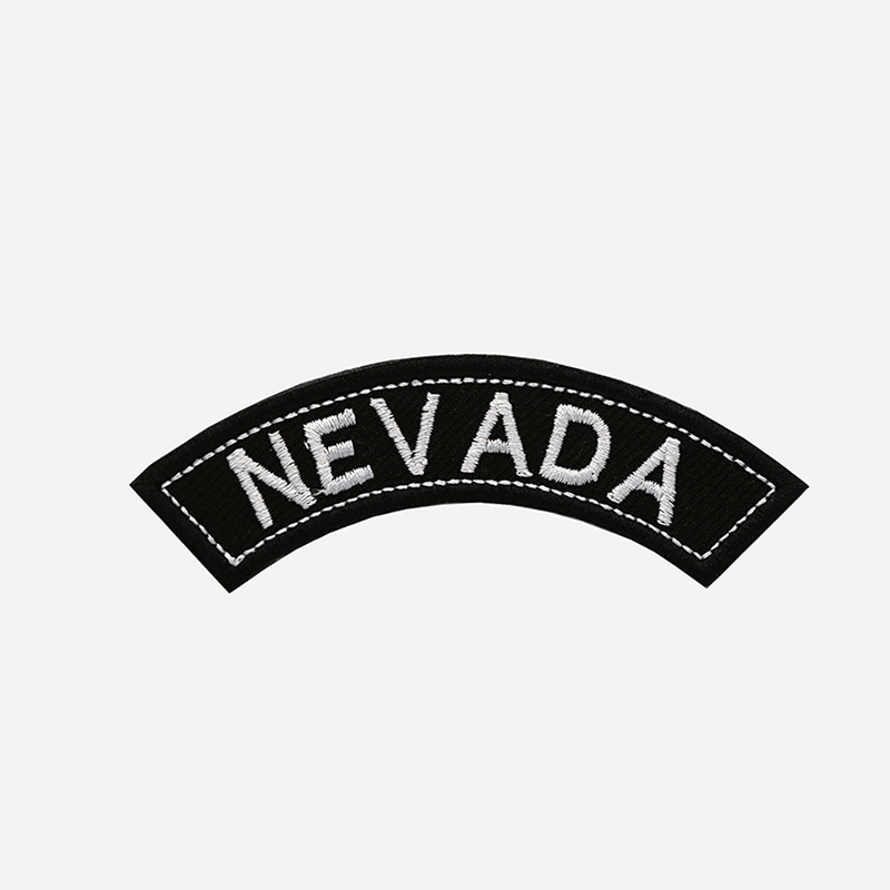 Nevada Mini Top Rocker Embroidered Vest Patch