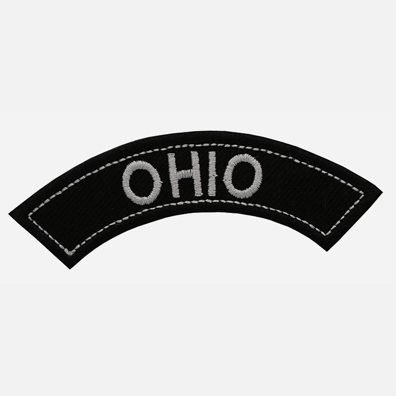 Ohio Mini Top Rocker Embroidered Vest Patch