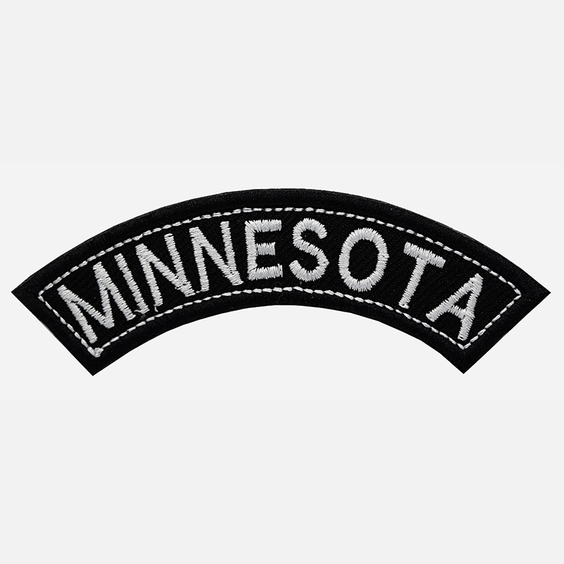 Minnesota Mini Top Rocker Embroidered Vest Patch