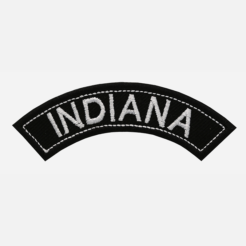 Indiana Mini Top Rocker Embroidered Vest Patch