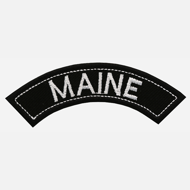 Maine Mini Top Rocker Embroidered Vest Patch
