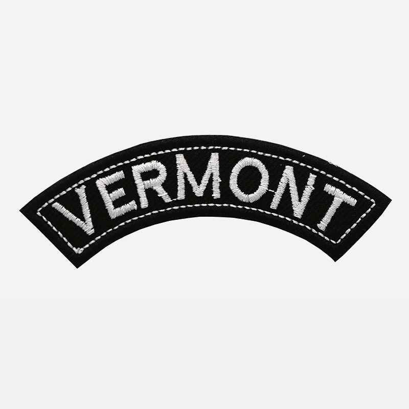 Vermont Mini Top Rocker Embroidered Vest Patch