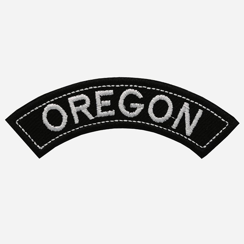 Oregon Mini Top Rocker Embroidered Vest Patch