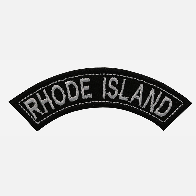 Rhode Island Mini Top Rocker Embroidered Vest Patch