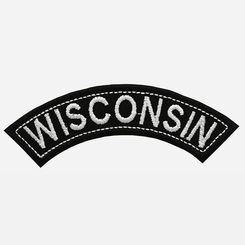 Wisconsin Mini Top Rocker Embroidered Vest Patch