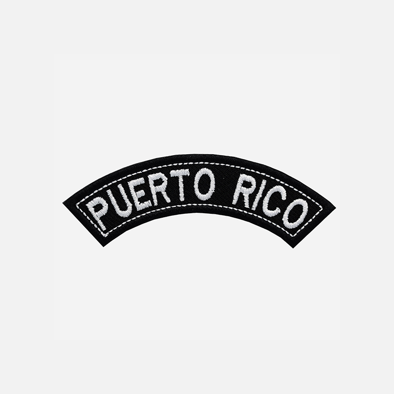 Puerto Rico Mini Top Rocker Embroidered Vest Patch