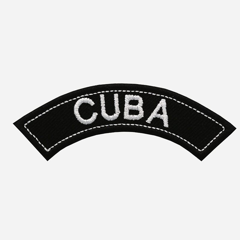 Cuba Mini Top Rocker Embroidered Vest Patch