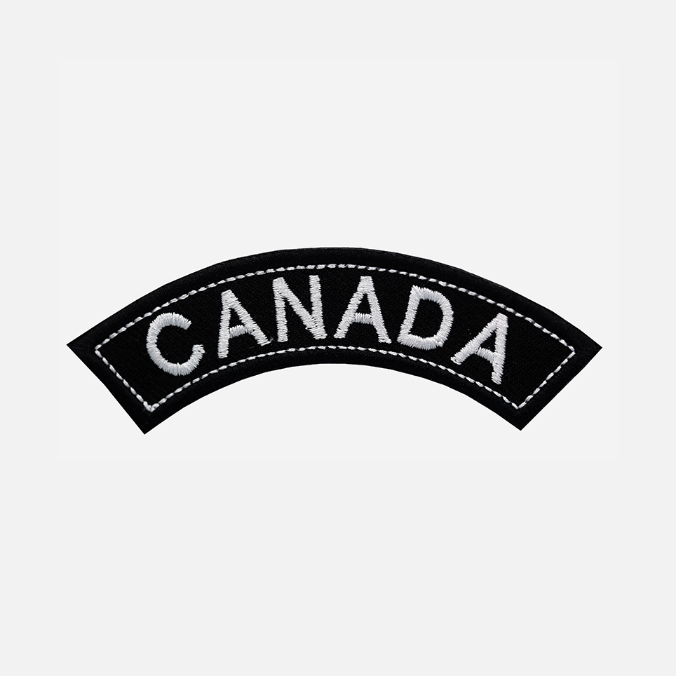 Canada Mini Top Rocker Embroidered Vest Patch