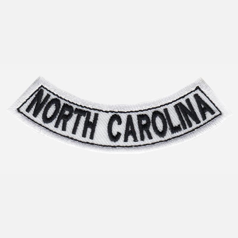 North Carolina Mini Bottom Rocker Embroidered Vest Patch