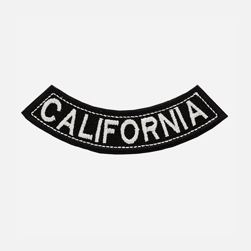 California Mini Bottom Rocker Embroidered Vest Patch