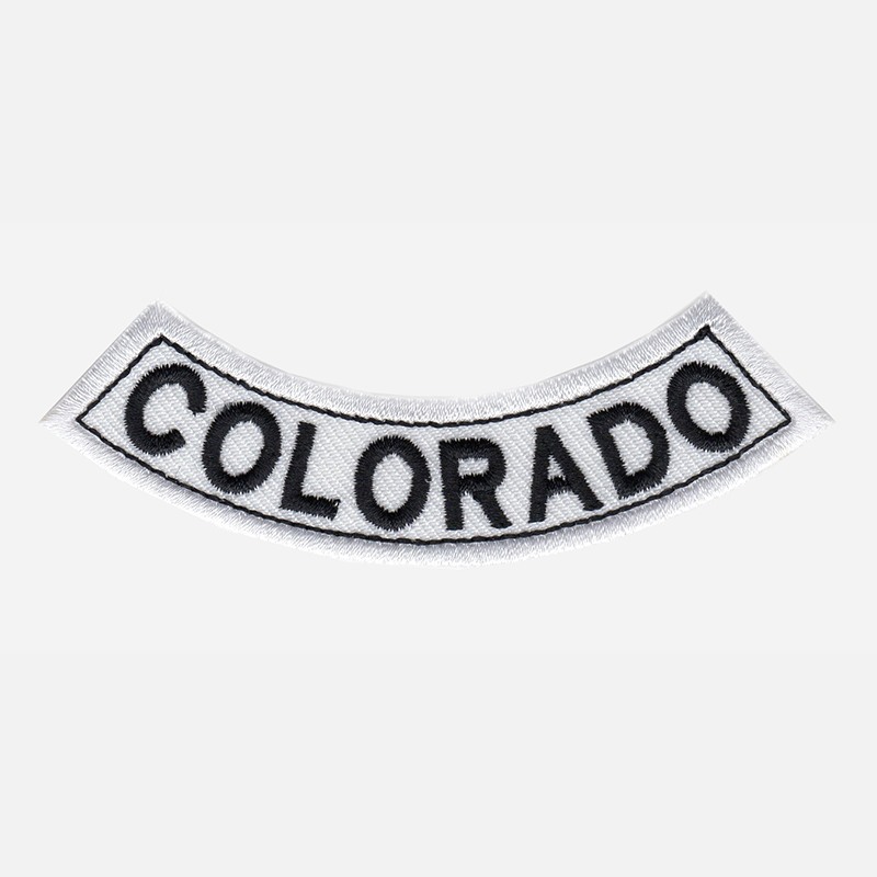 Colorado Mini Bottom Rocker Embroidered Vest Patch