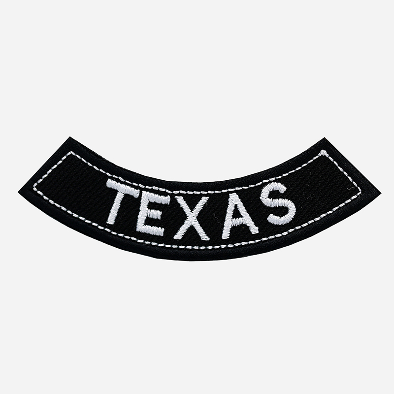 Texas Mini Bottom Rocker Embroidered Vest Patch