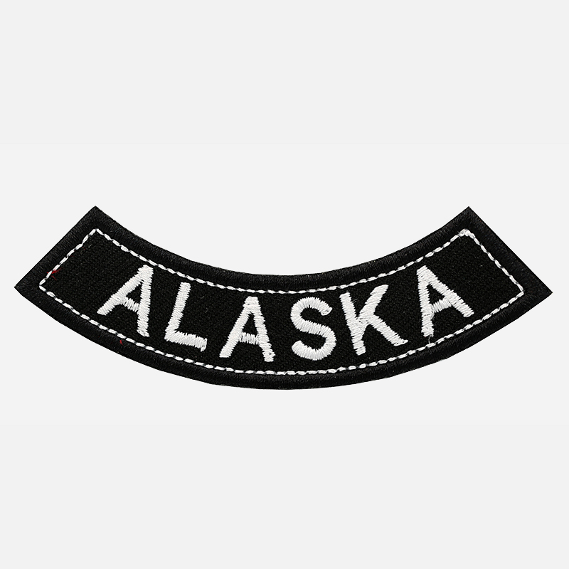 Alaska Mini Bottom Rocker Embroidered Vest Patch