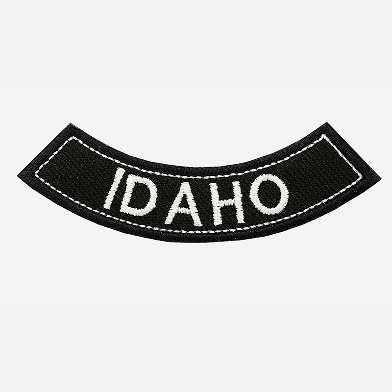 Idaho Mini Bottom Rocker Embroidered Vest Patch