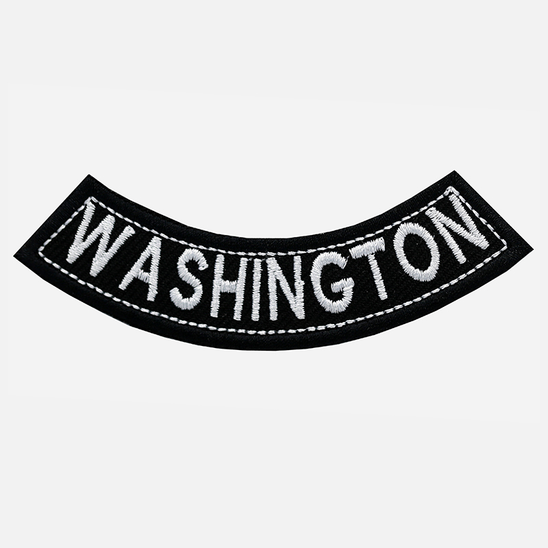 Washington Mini Bottom Rocker Embroidered Vest Patch