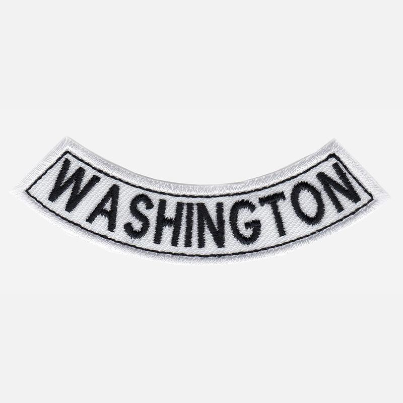 Washington Mini Bottom Rocker Embroidered Vest Patch