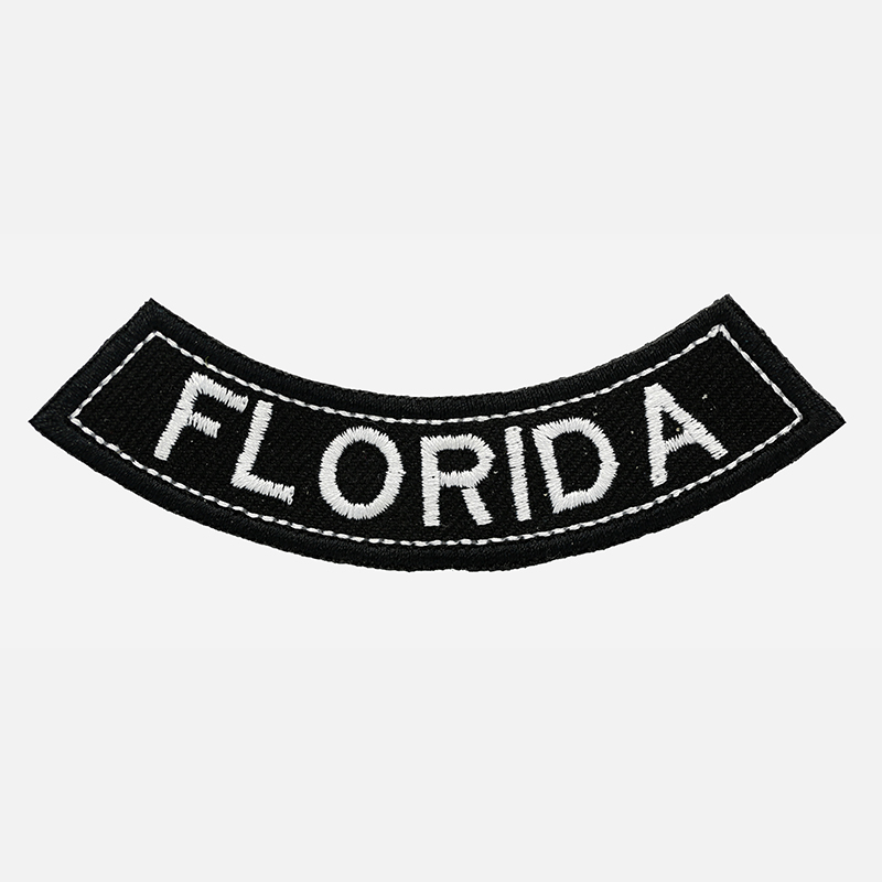 Florida Mini Bottom Rocker Embroidered Vest Patch