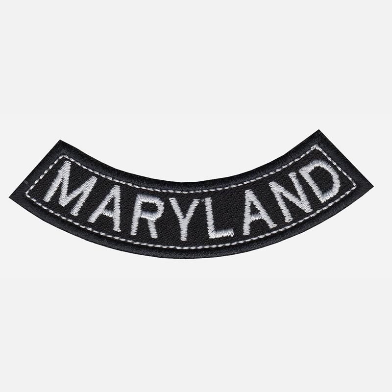 Maryland Mini Bottom Rocker Embroidered Vest Patch