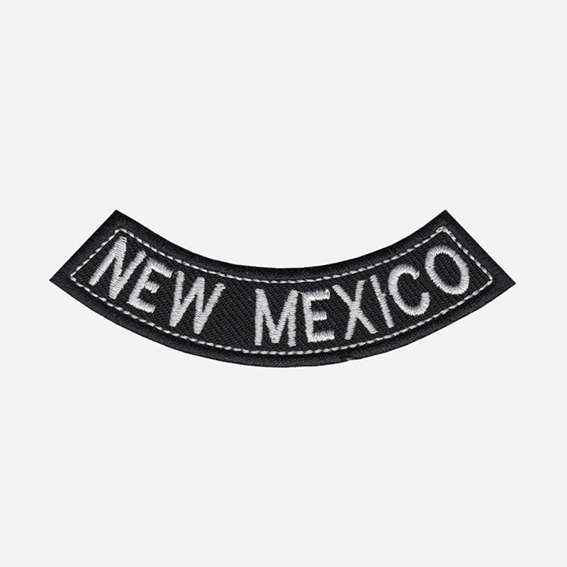 New Mexico Mini Bottom Rocker Embroidered Vest Patch