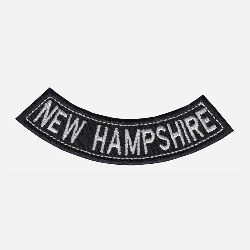New Hampire Mini Bottom Rocker Embroidered Vest Patch