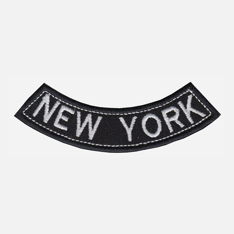 New York Mini Bottom Rocker Embroidered Vest Patch