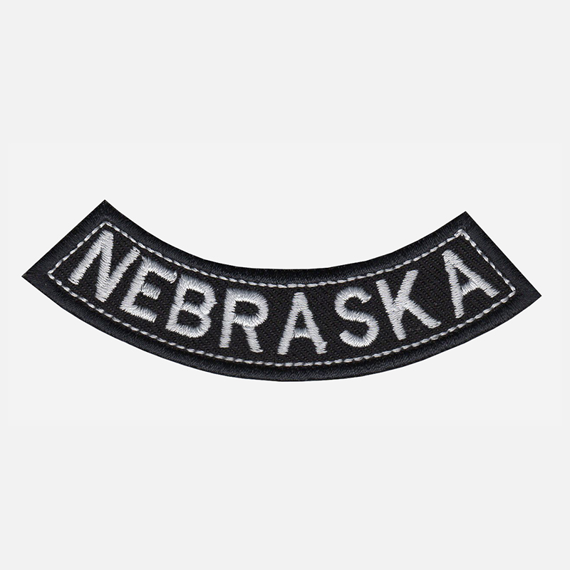 Nebraska Mini Bottom Rocker Embroidered Vest Patch
