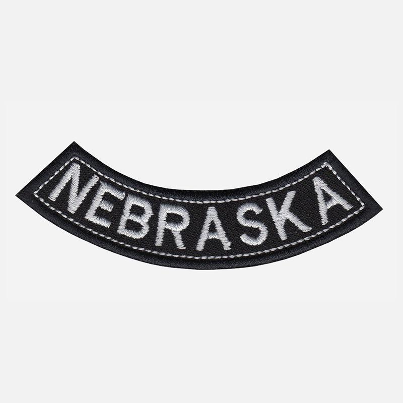 Nebraska Mini Bottom Rocker Embroidered Vest Patch