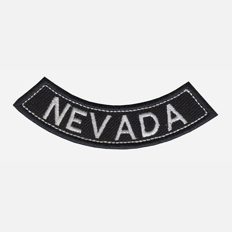 Nevada Mini Bottom Rocker Embroidered Vest Patch