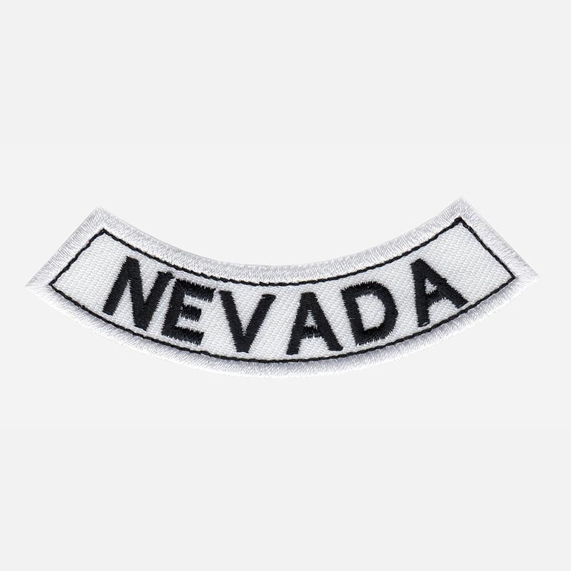 Nevada Mini Bottom Rocker Embroidered Vest Patch
