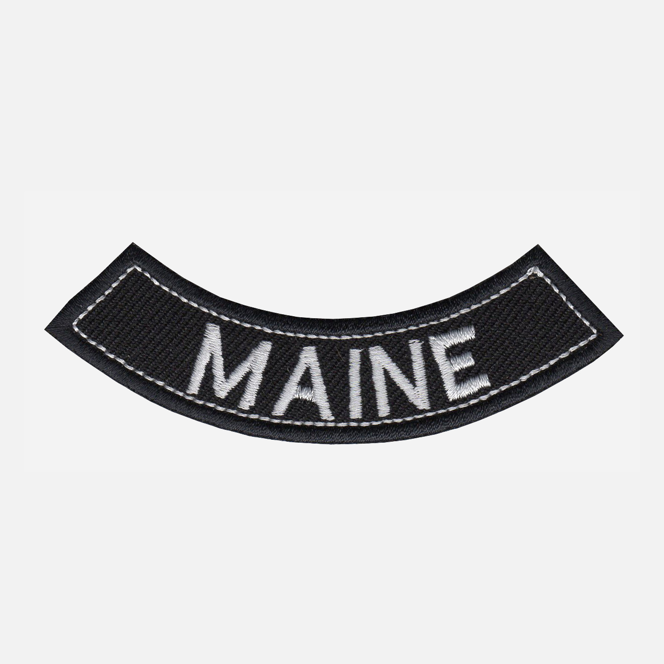 Maine Mini Bottom Rocker Embroidered Vest Patch