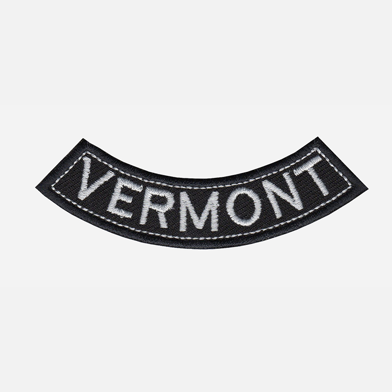 Vermont Mini Bottom Rocker Embroidered Vest Patch