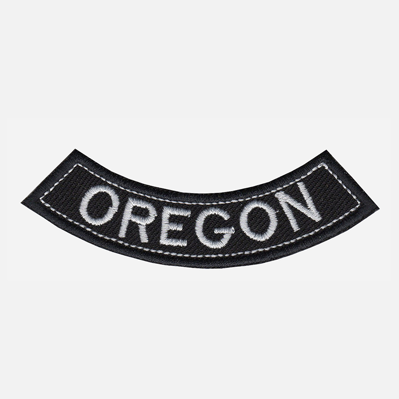 Oregon Mini Bottom Rocker Embroidered Vest Patch