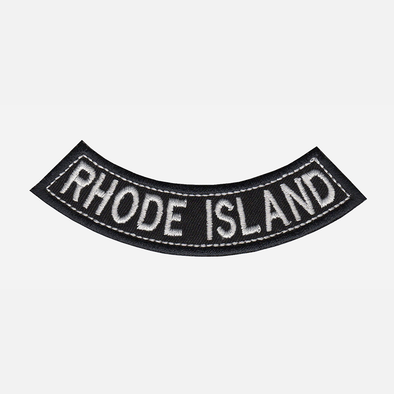 Rhode Island Mini Bottom Rocker Embroidered Vest Patch