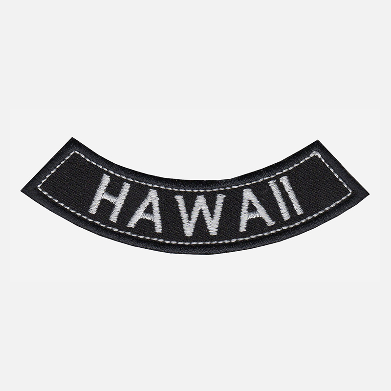 Hawaii Mini Bottom Rocker Embroidered Vest Patch