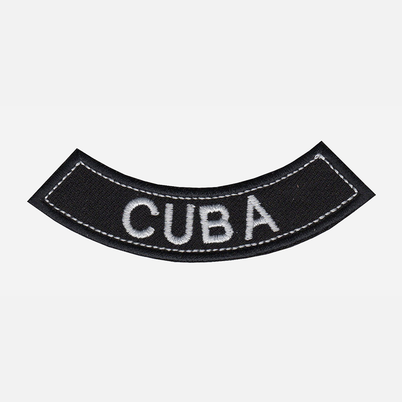 Cuba Mini Bottom Rocker Embroidered Vest Patch