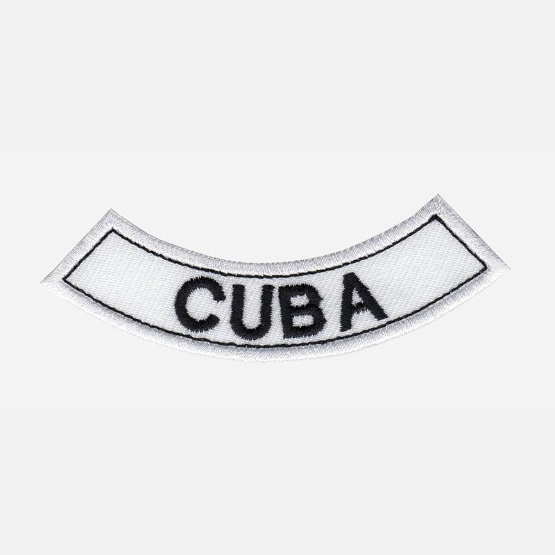 Cuba Mini Bottom Rocker Embroidered Vest Patch