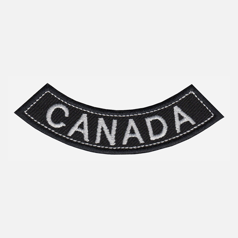 Canada Mini Bottom Rocker Embroidered Vest Patch