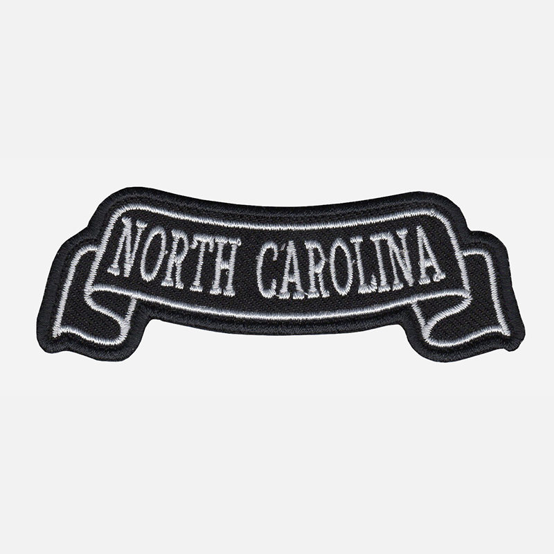 North Carolina Top Banner Embroidered Biker Vest Patch