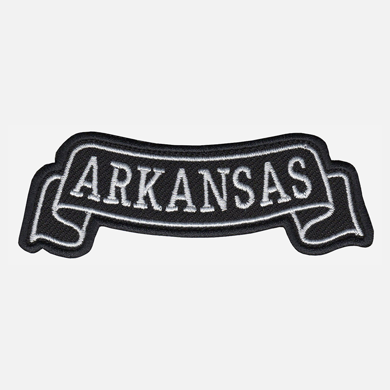 Arkansas Top Banner Embroidered Vest Patch