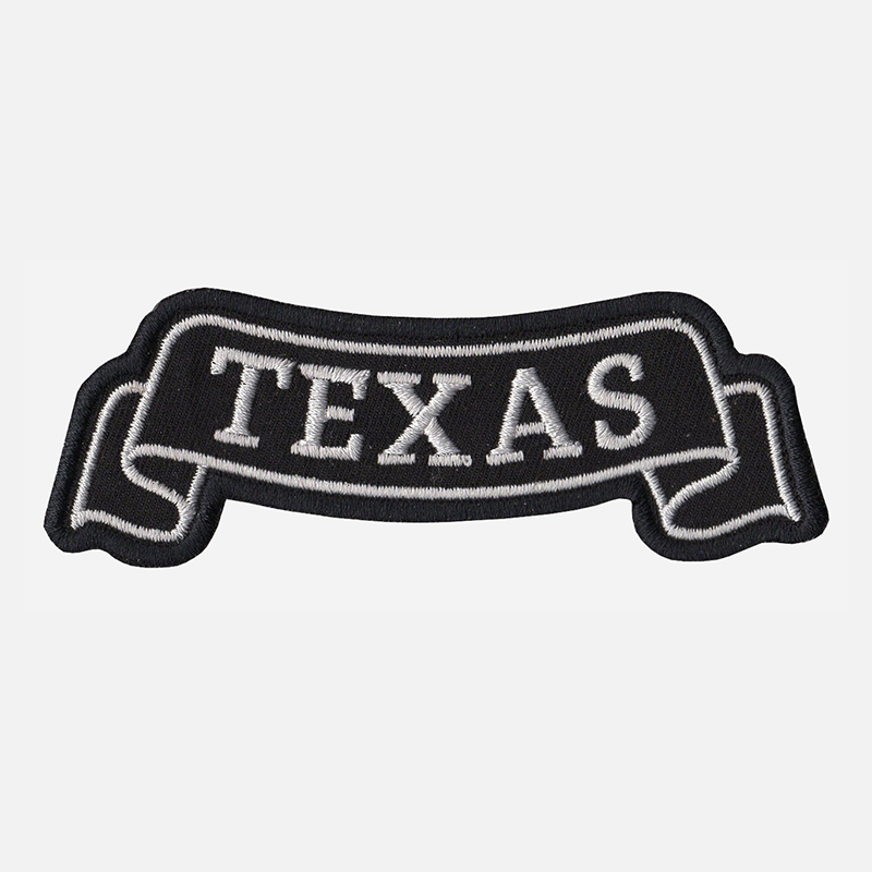 Texas Top Banner Embroidered Vest Patch