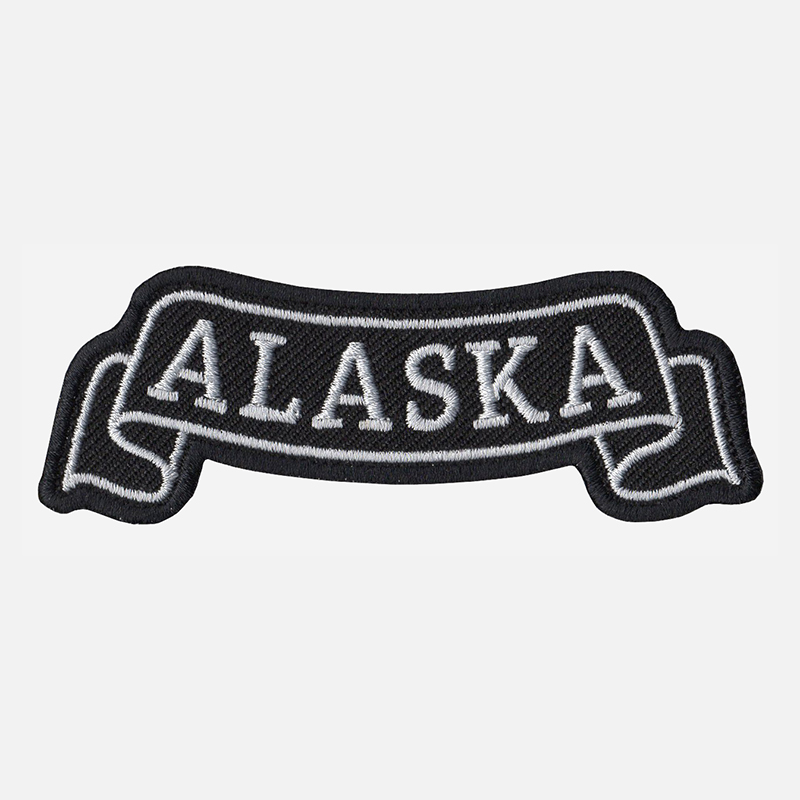 Alaska Top Banner Embroidered Vest Patch