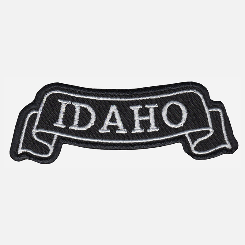 Idaho Top Banner Embroidered Biker Vest Patch