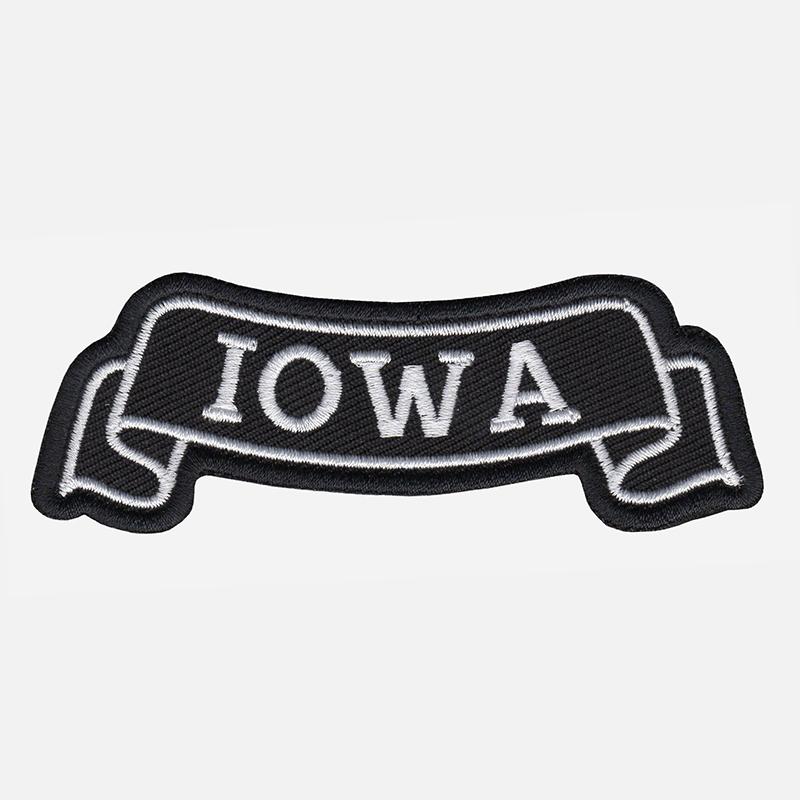 Iowa Top Banner Embroidered Biker Vest Patch