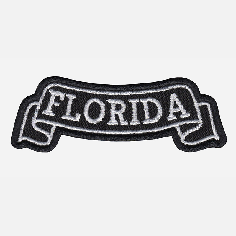 Florida Top Banner Embroidered Biker Vest Patch