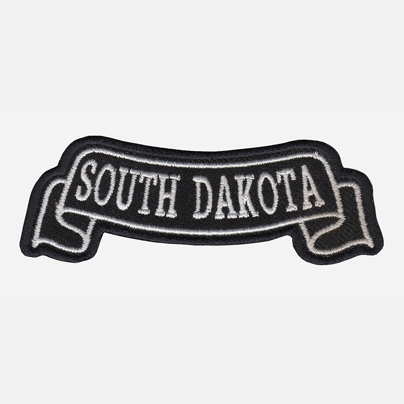 South Dekota Top Banner Embroidered Biker Vest Patch